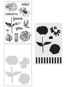 Wendy Vecchi Stamp, Die & Stencil Set - Flowers Say It All - WVZ65975